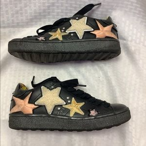 Coach Star Patchwork Black Sneakers